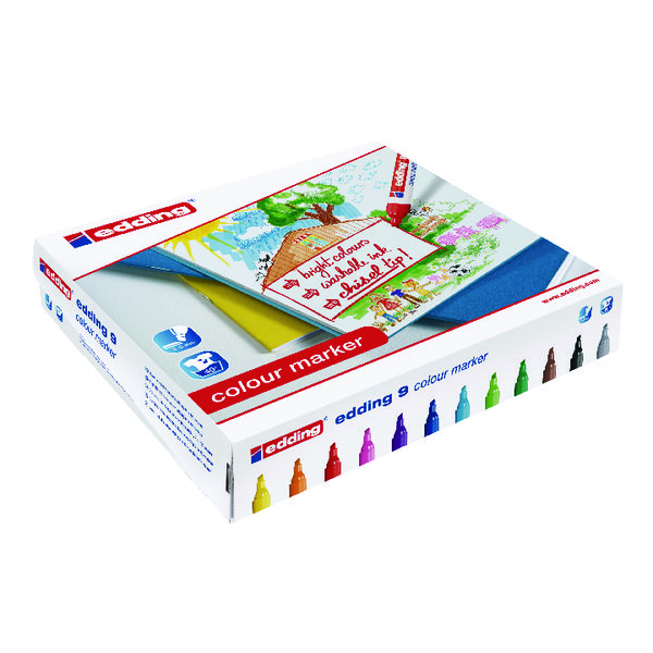 Edding 9 Colour Marker Chisel Tip Assorted (Pack of 144) 300459000