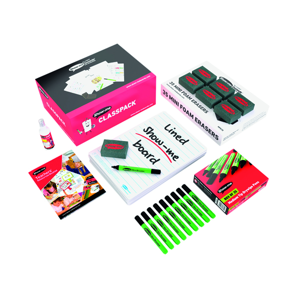 Show-me Whiteboard A4 Lined (Pack of 35) C/LIB