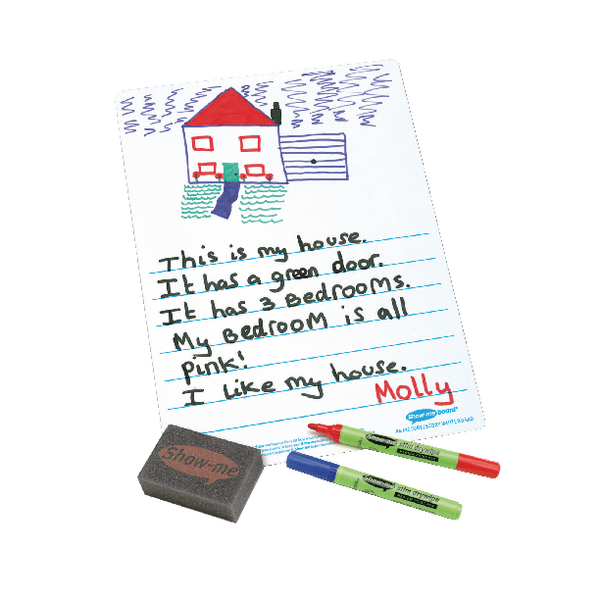 Show-me Picture Story Drywipe Board A4 (Pack of 35) C/PSB