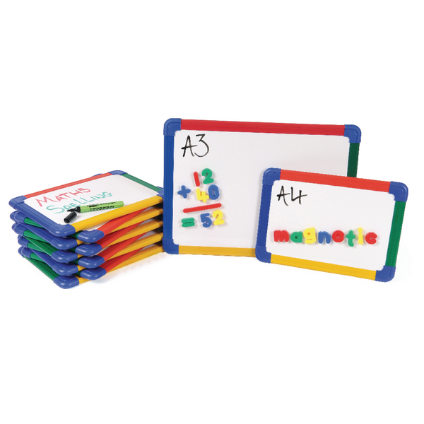 Show-me Magnetic Whiteboard A3 Gridded (Pack of 5) MBA3/5