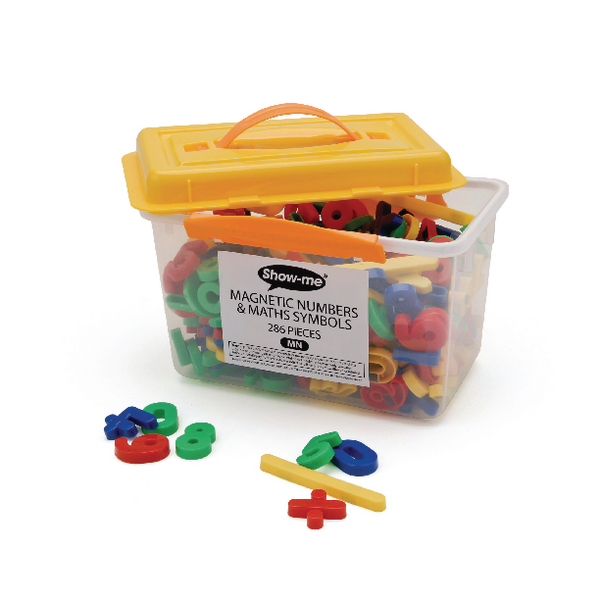 Show-me Magnetic Numbers and Maths Symbols Assorted (Pack of 286) MN