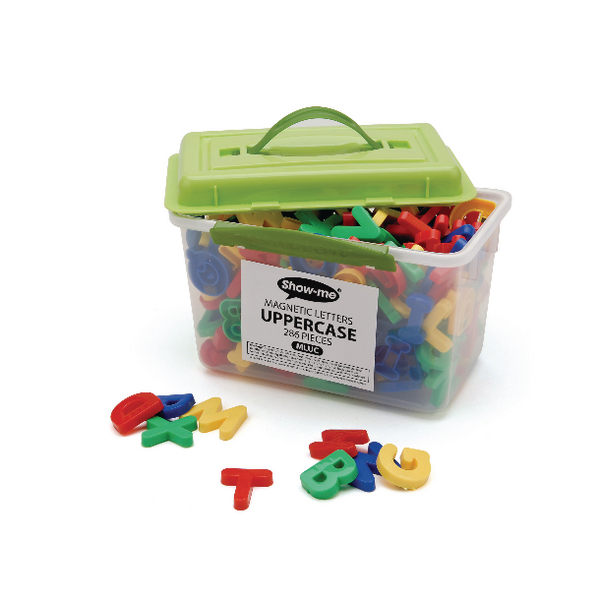 Show-me Magnetic Upper Case Letters Assorted (Pack of 286) MLUC