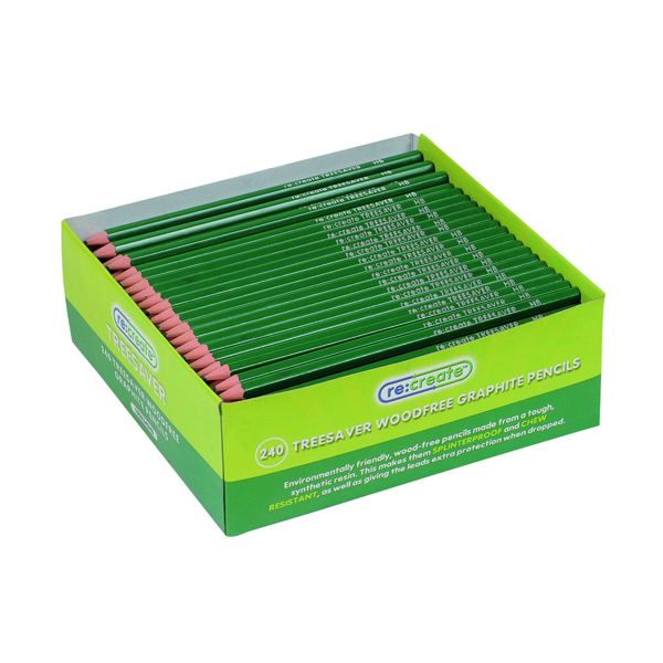 ReCreate Treesaver Recycled HB Pencil (Pack of 240) TREE240HB