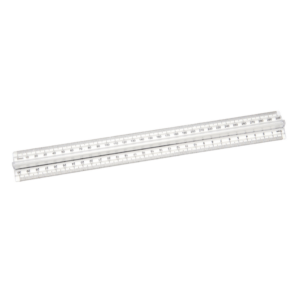 Classmaster Finger Grip Ruler Clear (Pack of 10) FGR10