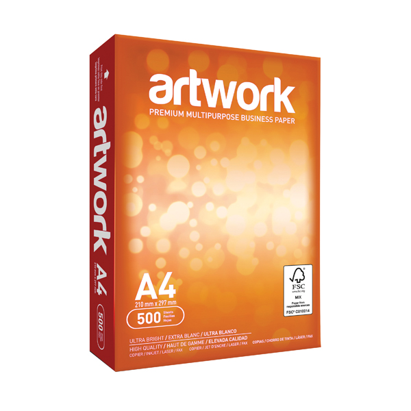 Artwork A4 White Paper 75gsm (Pack of 2500) EH00432