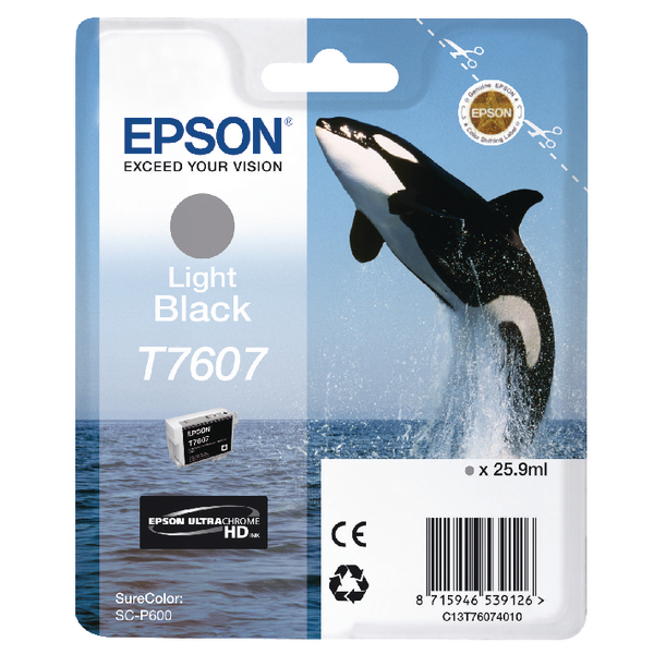 Epson T7607 Light Black Ink Cartridge C13T76074010 / T7607