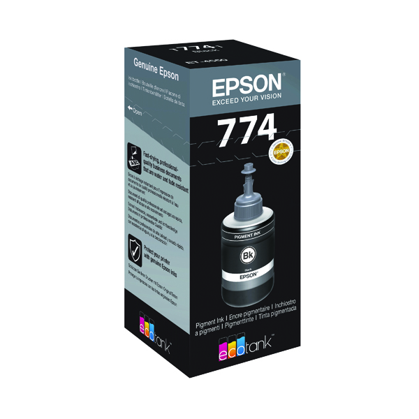 Epson T7741 Pigment Black Ink Bottle 140ml C13T774140