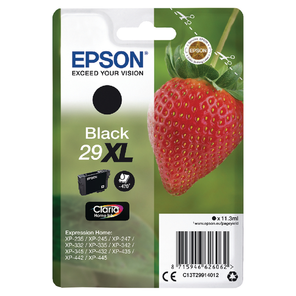 Epson 29XL Black Inkjet Cartridge C13T29914012