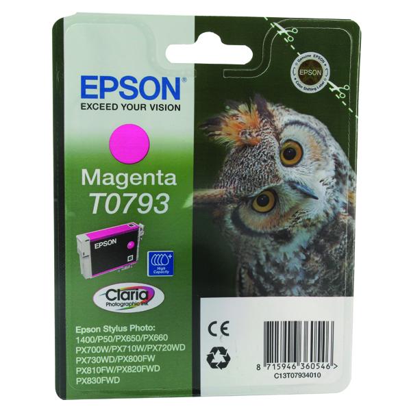 Epson T0793 Magenta Inkjet Cartridge C13T07934010 / T0793