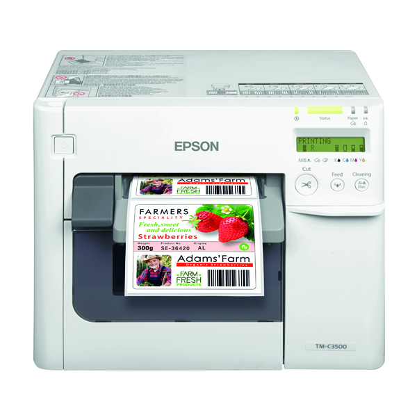 Epson TM-C3500 Inkjet Label Printer Colour 720X360 DPI C31CD54012CD