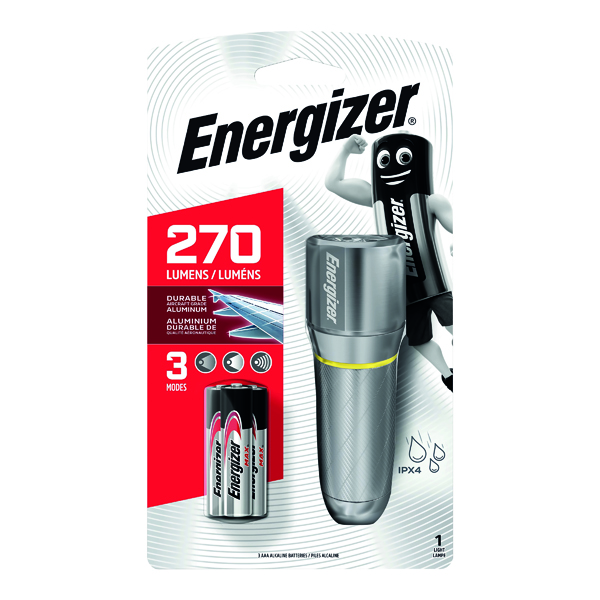 Energizer Value Small Metal Torch 3xAAA Silver 633657