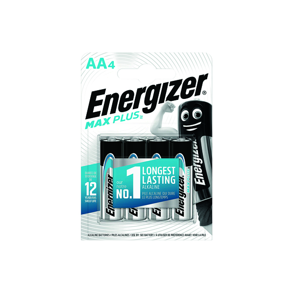 Energizer Max Plus AA Batteries (Pack of 4) E301323600