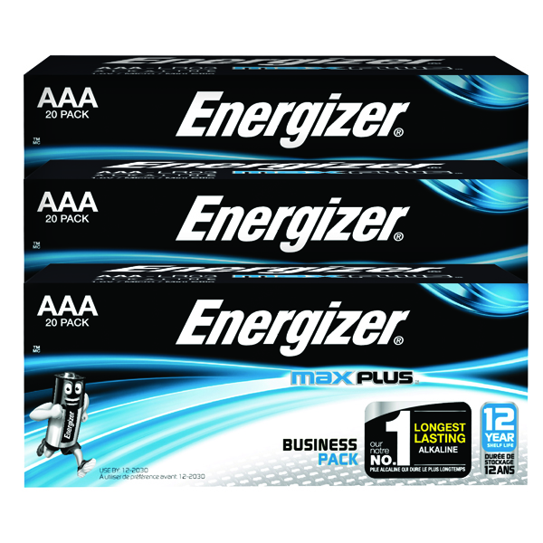 Energizer Max Plus AAA Batteries (Pack of 20) E301322900