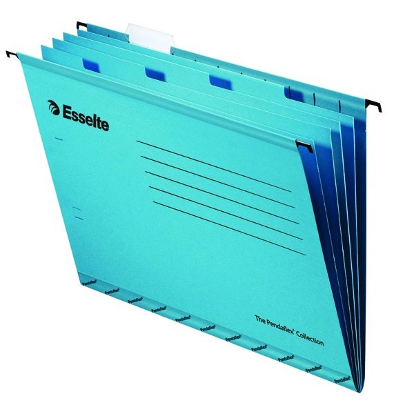 Esselte Classic Blue Foolscap Suspension File Divider (Pack of 10) 93135