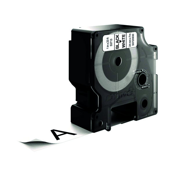 Dymo 53713 D1 Labelmaker Tape 24mm x 7m Black on White S0720930