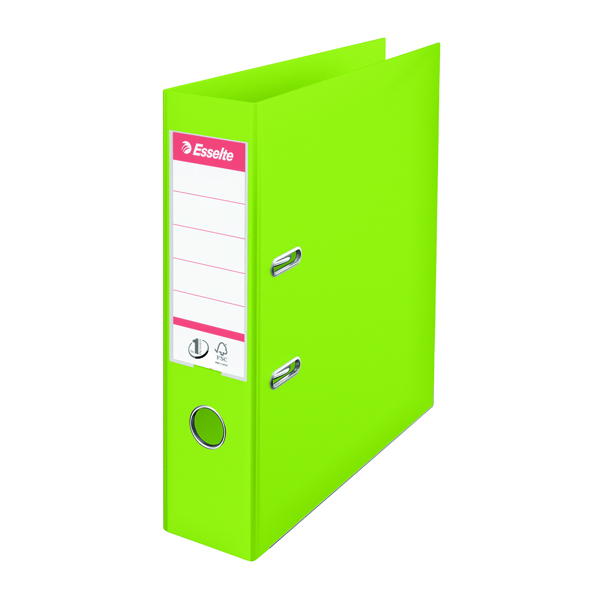 Esselte 75mm Lever Arch File Polypropylene A4 Green (Pack of 10) 624069