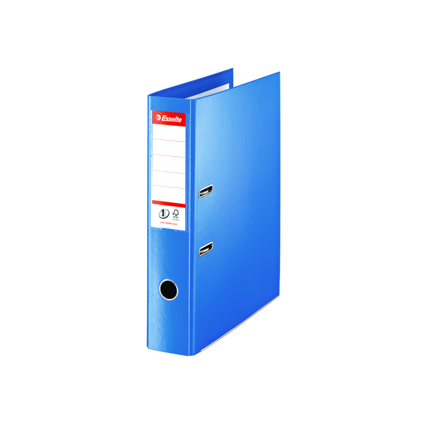 Esselte 75mm Lever Arch File Polypropylene Foolscap  Blue (Pack of 10) 48085