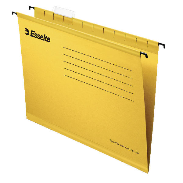 Esselte Classic A4 Yellow Suspension File (Pack of 25) 90314