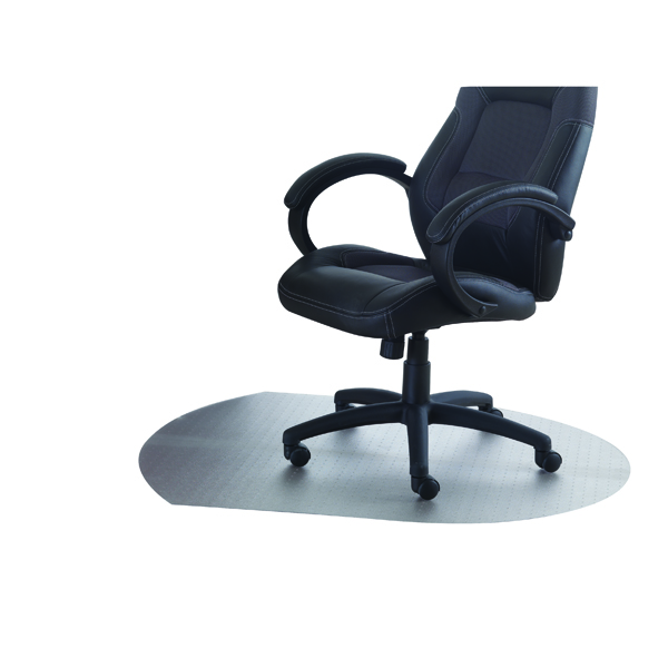 Cleartex PVC Chair Mat Carpet Contoured 990x1250mm Clear 119932SV