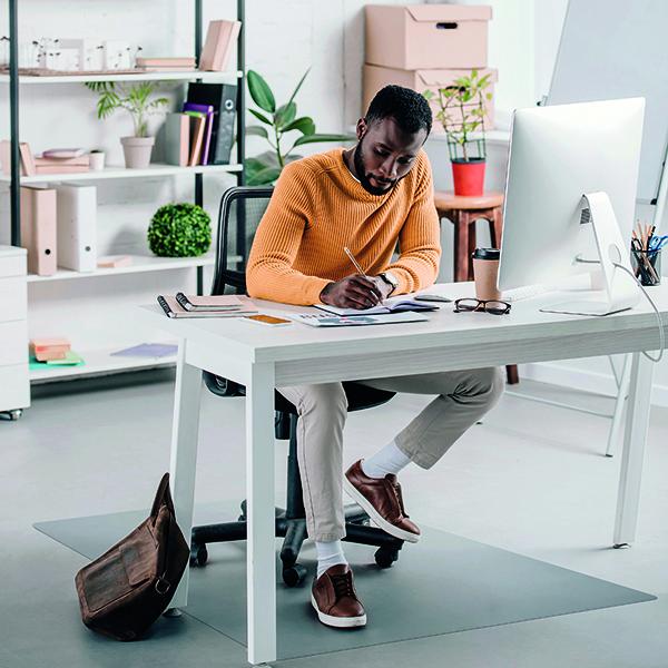 Ecotex Evolutionmat Carpet Chair Mat Rectangular 1200x900mm FL74151