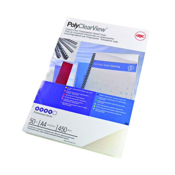 GBC PolyClearView A4 Binding Covers Matte (Pack of 100) IB387166