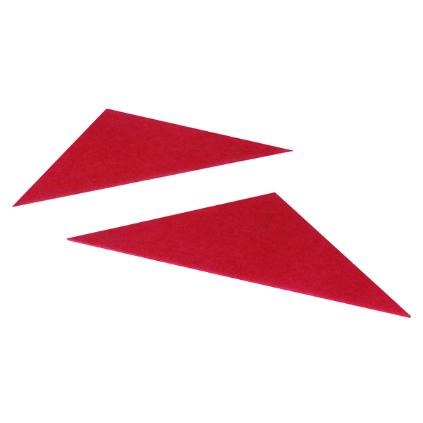 Exacompta Guildhall Legal Corners 315gsm Red (Pack of 100) GLC-RED