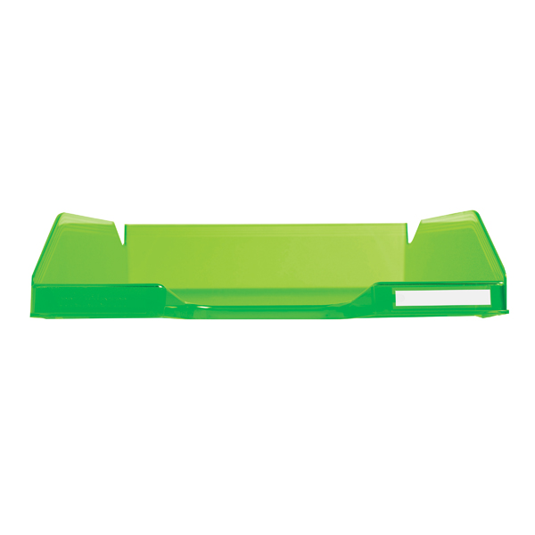 Exacompta Iderama A4+ Letter Tray Lime (W255 x D346 x H65mm) 11397D