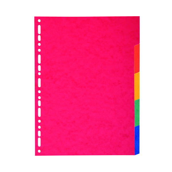 Exacompta Recycled Dividers 5-Part A4 Maxi (Manufactured from 225gsm pressboard) 2105E