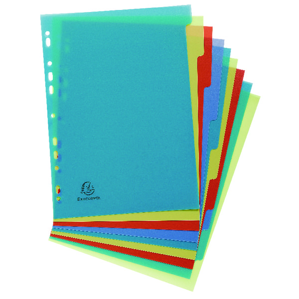 Exacompta Forever Recycled Polypropylene 10 Part Dividers A4 2710E