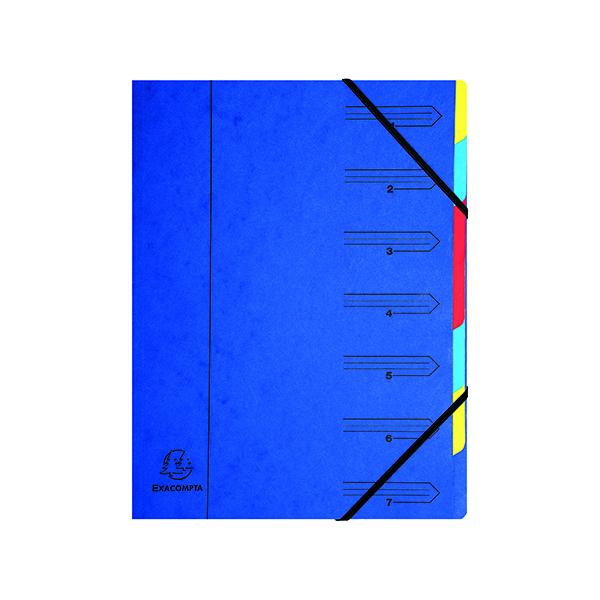 Exacompta Europa 7-Part Organiser A4 Blue 5219Z