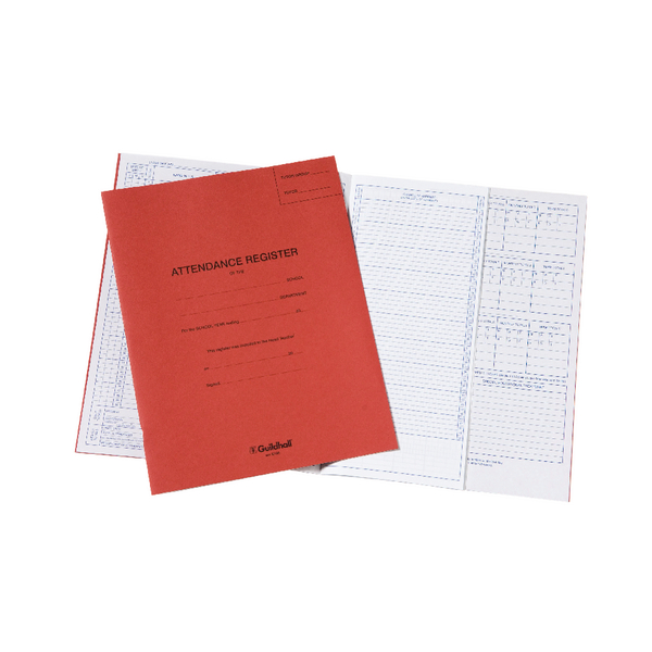 Guildhall 70gsm Attendance Register (326 x 205mm) E100Z