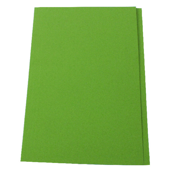 Exacompta Guildhall Square Cut Folder 315gsm Foolscap Green (Pack of 100) FS315-GRNZ