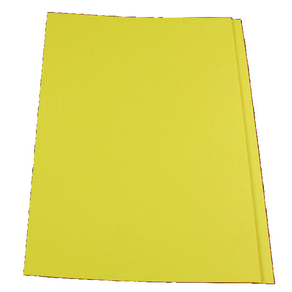 Exacompta Guildhall Square Cut Folder 315gsm Foolscap Yellow (Pack of 100) FS315-YLWZ