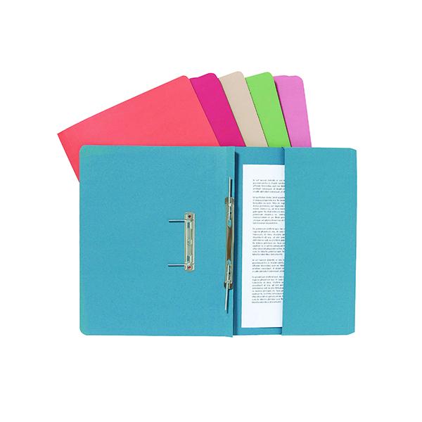 Exacompta Guildhall Pocket Spiral File 285gsm Buff (Pack of 25) 347-BUFZ