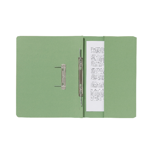 Exacompta Guildhall Pocket Spiral File 285gsm Green (Pack of 25) 347-GRNZ