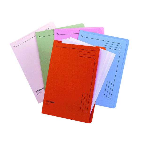 Exacompta Guildhall Slipfile Manilla 230gsm Assorted (Pack of 50) 4600Z