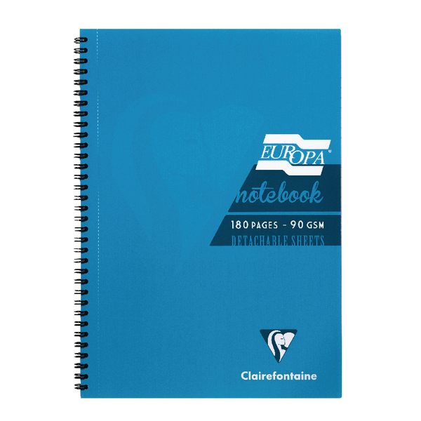 Clairefontaine Europa Notebook 180 Pages A5 Turquoise (Pack of 5) 5812Z