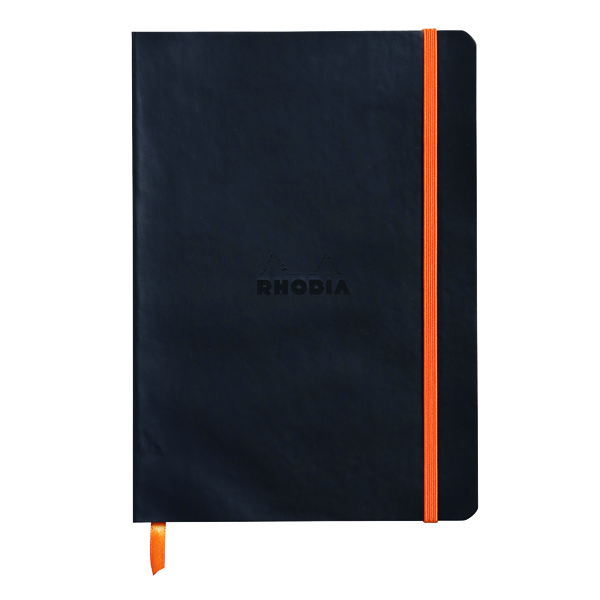 Rhodiarama Soft Cover Notebook 160 Pages A5 Black 117402C