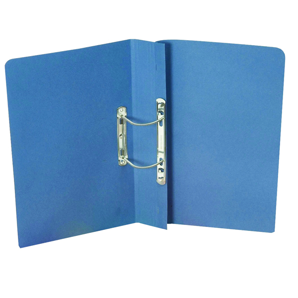 Exacompta Guildhall Heavyweight Transfer Spiral File 420gsm Foolscap Blue (Pack of 25) 211/7000