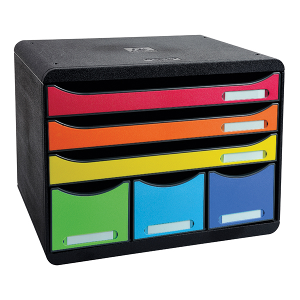 Exacompta Iderama Store Box Maxi 6 Drawer Set Harlequin 306798D