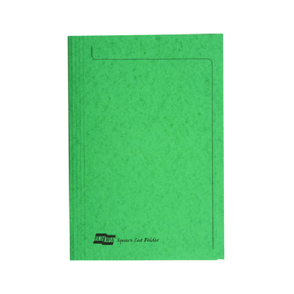 Europa Square Cut Folder 300 micron Foolscap Green (Pack of 50) 4823