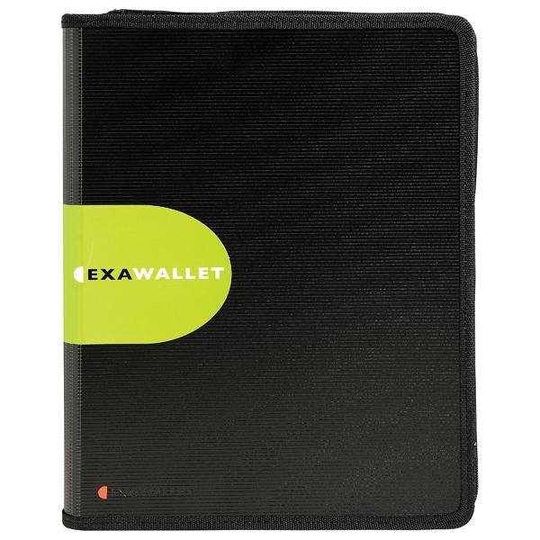 Exacompta Exactive ExaWallet Conference Folder with Calculator Black 55534E