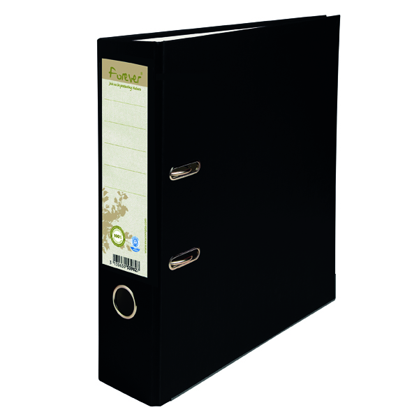 Forever PremTouch Lever Arch File A4 80mm Black (Pack of 10) 12345E