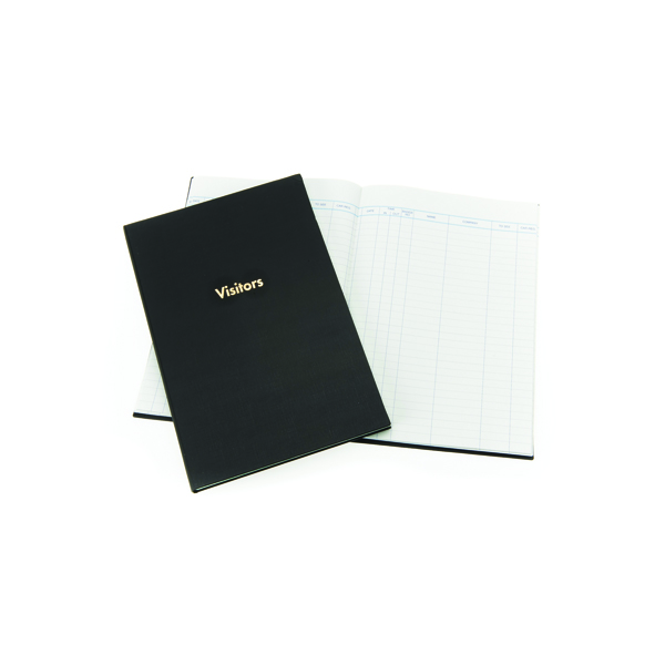 Exacompta Guildhall Company Visitors Book 160 Pages Blue T253