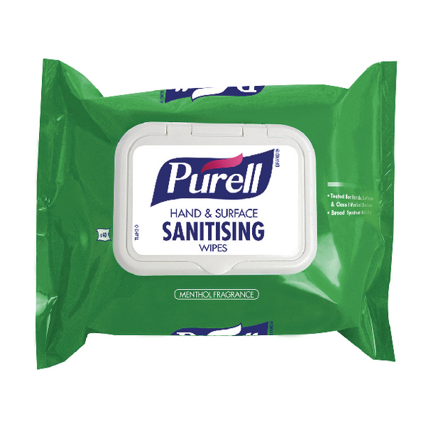 Purell Hand and Surface Sanitising Wipes (Pack of 40) 92002-40-EEU