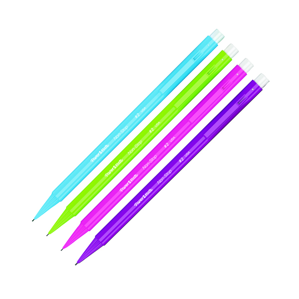 PaperMate Non-Stop Automatic Pencil Assorted Neon (Pack of 48) 2027757