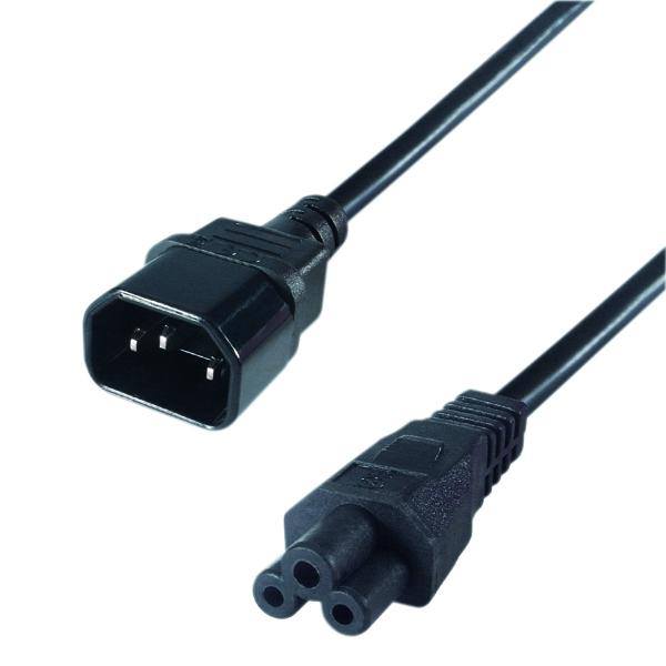 Connekt Gear 15cm Mains Power Adapter C14 Plug to C5 Socket 27-0140