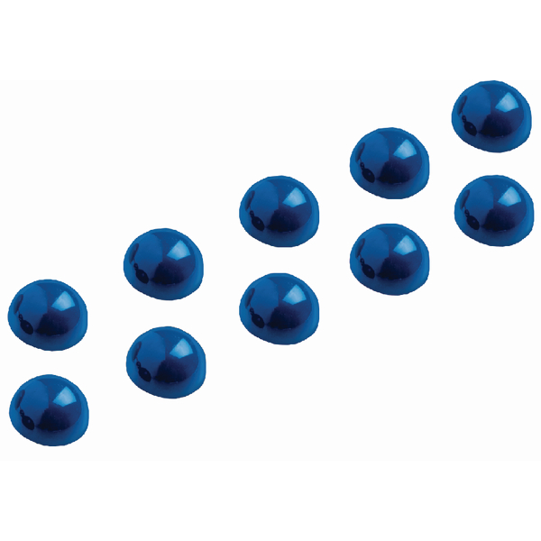 10 x Maul Dome Magnet 30mm Blue (Can hold up to 0.6kg, stylish dome shape) 6166035