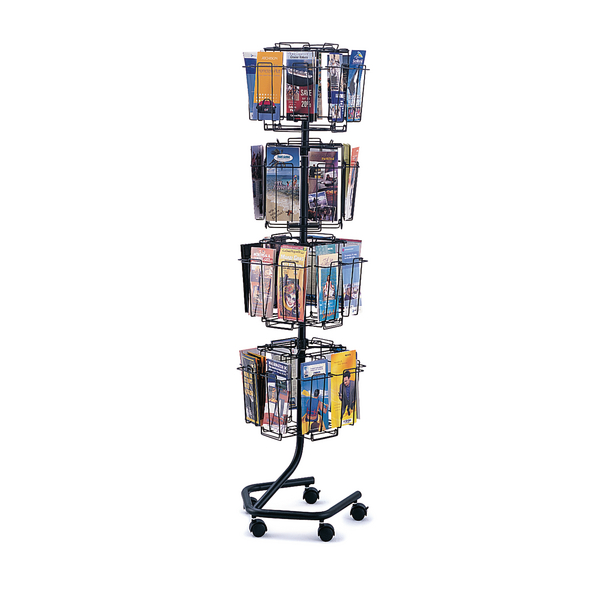 Safco 32 Compartment Rotating Wire Display Unit 1/3 A4 4128CH