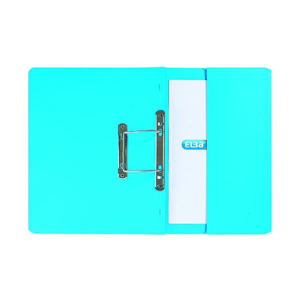 Elba Stratford Spring Pocket File 320gsm Foolscap Blue (Pack of 25) 100090146